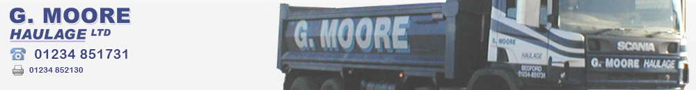 Tipper Hire and Bulk Earth Moving - G Moore Bedford Bedfordshire